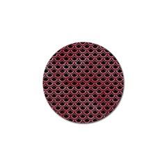 Scales2 Black Marble & Red Watercolor (r) Golf Ball Marker (4 Pack) by trendistuff