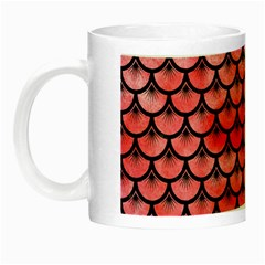 Scales3 Black Marble & Red Watercolor Night Luminous Mugs by trendistuff