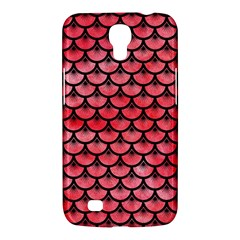 Scales3 Black Marble & Red Watercolor Samsung Galaxy Mega 6 3  I9200 Hardshell Case by trendistuff