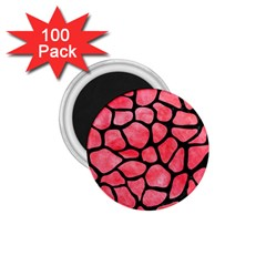 Skin1 Black Marble & Red Watercolor (r) 1 75  Magnets (100 Pack)  by trendistuff