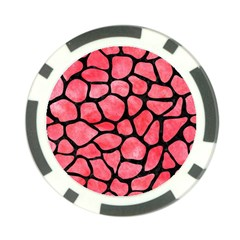 Skin1 Black Marble & Red Watercolor (r) Poker Chip Card Guard (10 Pack) by trendistuff