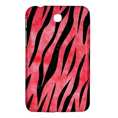 Skin3 Black Marble & Red Watercolor Samsung Galaxy Tab 3 (7 ) P3200 Hardshell Case  by trendistuff