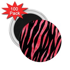 Skin3 Black Marble & Red Watercolor (r) 2 25  Magnets (100 Pack)  by trendistuff