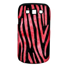 Skin4 Black Marble & Red Watercolor Samsung Galaxy S Iii Classic Hardshell Case (pc+silicone) by trendistuff