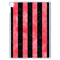 Stripes1 Black Marble & Red Watercolor Apple Ipad Pro 9 7   White Seamless Case by trendistuff