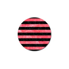 Stripes2 Black Marble & Red Watercolor Golf Ball Marker (4 Pack) by trendistuff