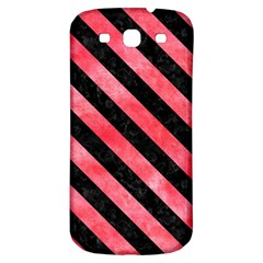 Stripes3 Black Marble & Red Watercolor Samsung Galaxy S3 S Iii Classic Hardshell Back Case by trendistuff