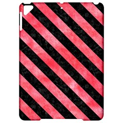 Stripes3 Black Marble & Red Watercolor Apple Ipad Pro 9 7   Hardshell Case