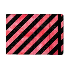 Stripes3 Black Marble & Red Watercolor (r) Ipad Mini 2 Flip Cases by trendistuff