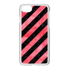Stripes3 Black Marble & Red Watercolor (r) Apple Iphone 7 Seamless Case (white) by trendistuff