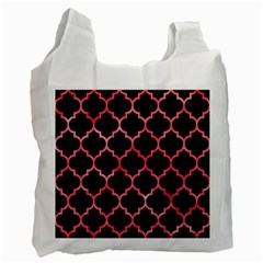 Tile1 Black Marble & Red Watercolor (r) Recycle Bag (two Side)  by trendistuff