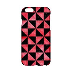 Triangle1 Black Marble & Red Watercolor Apple Iphone 6/6s Hardshell Case