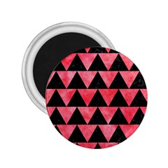 Triangle2 Black Marble & Red Watercolor 2 25  Magnets by trendistuff