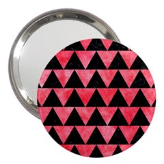 Triangle2 Black Marble & Red Watercolor 3  Handbag Mirrors by trendistuff