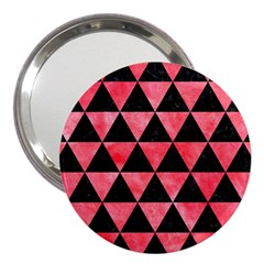 Triangle3 Black Marble & Red Watercolor 3  Handbag Mirrors by trendistuff