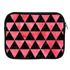 Triangle3 Black Marble & Red Watercolor Apple Ipad 2/3/4 Zipper Cases by trendistuff
