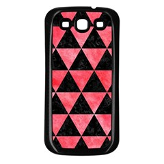 Triangle3 Black Marble & Red Watercolor Samsung Galaxy S3 Back Case (black) by trendistuff