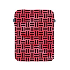 Woven1 Black Marble & Red Watercolor Apple Ipad 2/3/4 Protective Soft Cases by trendistuff