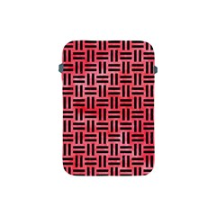Woven1 Black Marble & Red Watercolor Apple Ipad Mini Protective Soft Cases by trendistuff