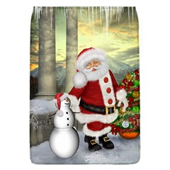 Sanata Claus With Snowman And Christmas Tree Flap Covers (l)  by FantasyWorld7