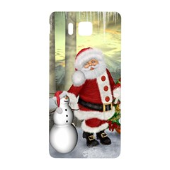 Sanata Claus With Snowman And Christmas Tree Samsung Galaxy Alpha Hardshell Back Case by FantasyWorld7
