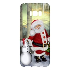 Sanata Claus With Snowman And Christmas Tree Samsung Galaxy S8 Plus Hardshell Case