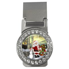 Sanata Claus With Snowman And Christmas Tree Money Clips (cz)  by FantasyWorld7