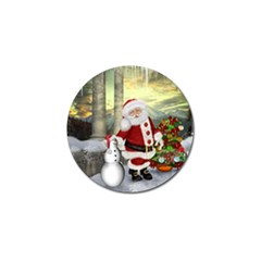 Sanata Claus With Snowman And Christmas Tree Golf Ball Marker (4 Pack) by FantasyWorld7
