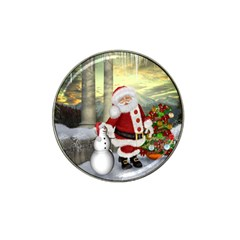 Sanata Claus With Snowman And Christmas Tree Hat Clip Ball Marker (10 Pack) by FantasyWorld7