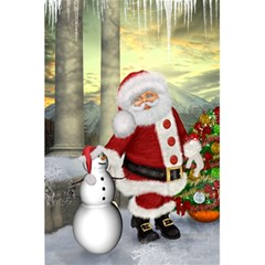 Sanata Claus With Snowman And Christmas Tree 5 5  X 8 5  Notebooks by FantasyWorld7