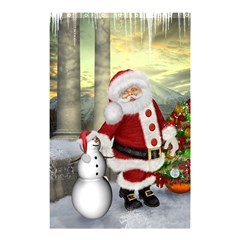 Sanata Claus With Snowman And Christmas Tree Shower Curtain 48  X 72  (small)  by FantasyWorld7