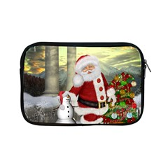 Sanata Claus With Snowman And Christmas Tree Apple Ipad Mini Zipper Cases by FantasyWorld7