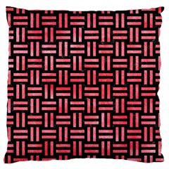 Woven1 Black Marble & Red Watercolor (r) Large Cushion Case (two Sides) by trendistuff