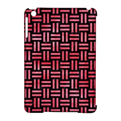Woven1 Black Marble & Red Watercolor (r) Apple Ipad Mini Hardshell Case (compatible With Smart Cover) by trendistuff