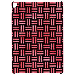 Woven1 Black Marble & Red Watercolor (r) Apple Ipad Pro 12 9   Hardshell Case