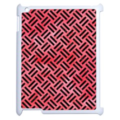 Woven2 Black Marble & Red Watercolor Apple Ipad 2 Case (white) by trendistuff