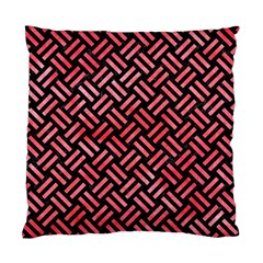 Woven2 Black Marble & Red Watercolor (r) Standard Cushion Case (one Side) by trendistuff