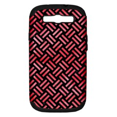 Woven2 Black Marble & Red Watercolor (r) Samsung Galaxy S Iii Hardshell Case (pc+silicone) by trendistuff