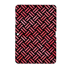 Woven2 Black Marble & Red Watercolor (r) Samsung Galaxy Tab 2 (10 1 ) P5100 Hardshell Case  by trendistuff
