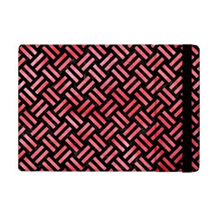 Woven2 Black Marble & Red Watercolor (r) Ipad Mini 2 Flip Cases by trendistuff