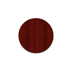 Brick1 Black Marble & Red Wood Golf Ball Marker by trendistuff