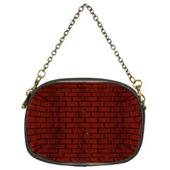 Brick1 Black Marble & Red Wood Chain Purses (two Sides)  by trendistuff