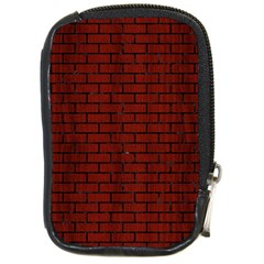 Brick1 Black Marble & Red Wood Compact Camera Cases by trendistuff