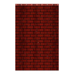 Brick1 Black Marble & Red Wood Shower Curtain 48  X 72  (small)  by trendistuff