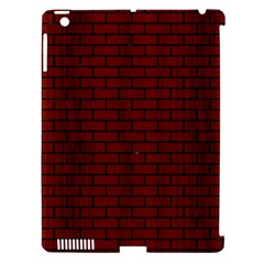 Brick1 Black Marble & Red Wood Apple Ipad 3/4 Hardshell Case (compatible With Smart Cover) by trendistuff