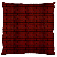 Brick1 Black Marble & Red Wood Large Flano Cushion Case (two Sides) by trendistuff