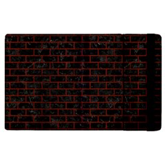 Brick1 Black Marble & Red Wood (r) Apple Ipad Pro 12 9   Flip Case by trendistuff