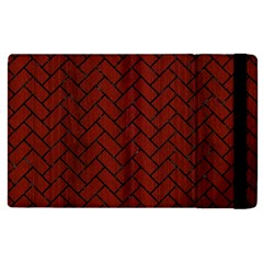 Brick2 Black Marble & Red Wood Apple Ipad 2 Flip Case by trendistuff
