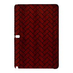 Brick2 Black Marble & Red Wood Samsung Galaxy Tab Pro 10 1 Hardshell Case by trendistuff