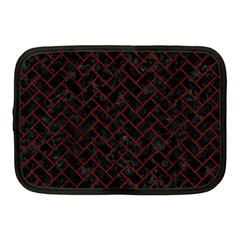 Brick2 Black Marble & Red Wood (r) Netbook Case (medium)  by trendistuff